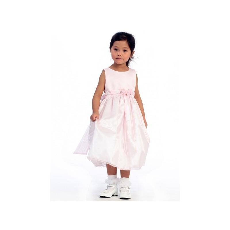 Wedding - Pink Flower Girl Dress - Satin Bodice Organza Skirt Style: D520 - Charming Wedding Party Dresses