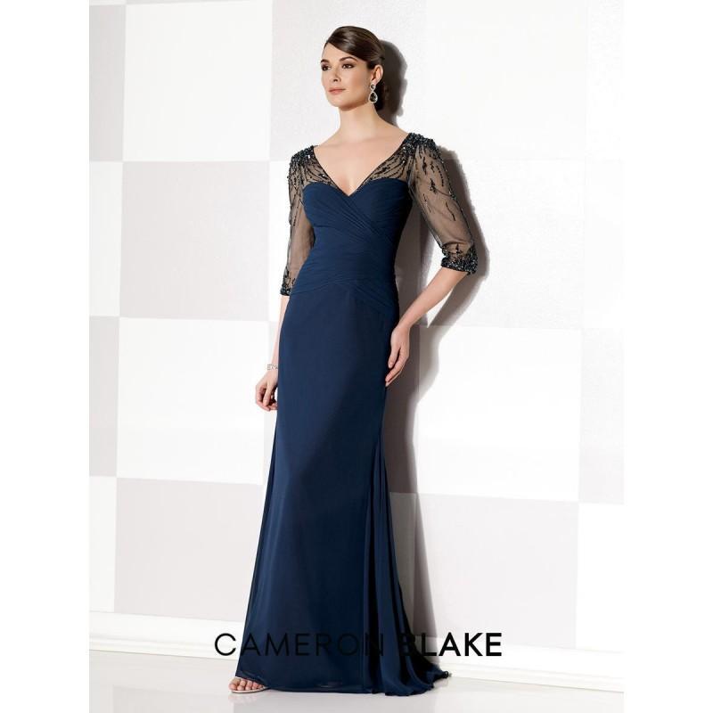 Свадьба - Navy Blue Cameron Blake 215630 Cameron Blake by Mon Cheri - Top Design Dress Online Shop