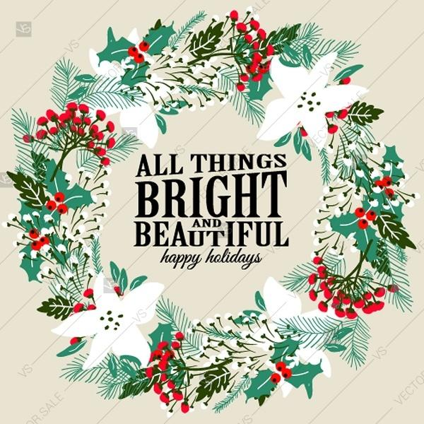 Свадьба - All things bright a beautiful winter fir christmas background