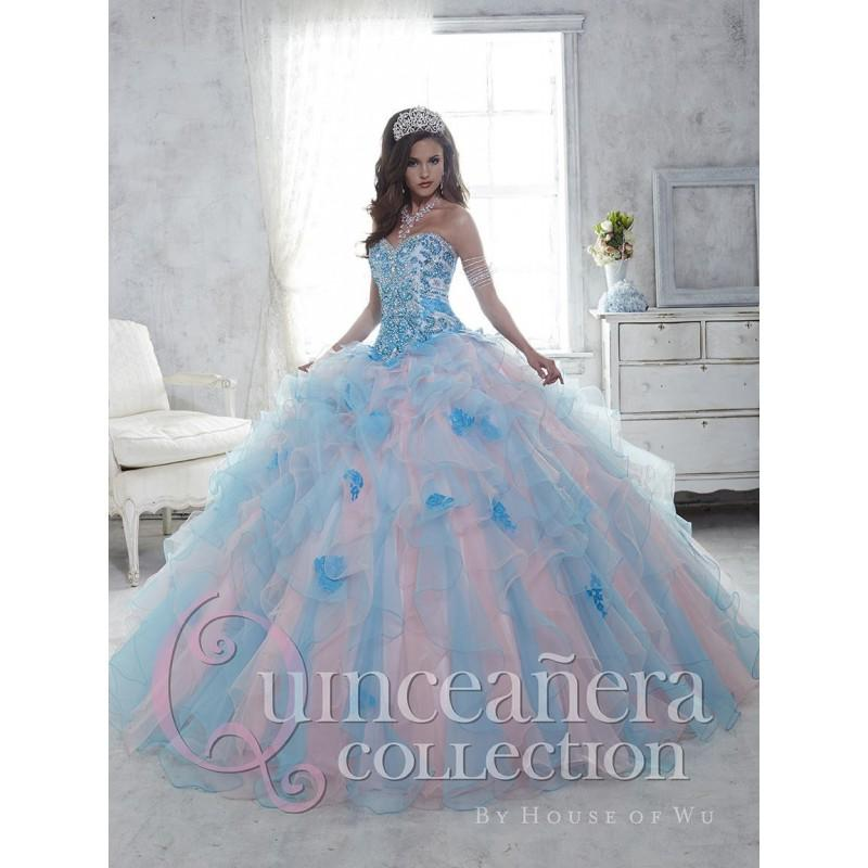 51e45abd2c House of Wu 26802 Colorful Ruffle Quinceanera Dress - Brand Prom Dresses