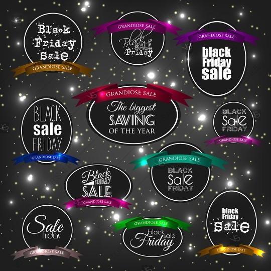 Wedding - Black Friday Calligraphic Designs. Poster Sale.Typography. Vector illustration