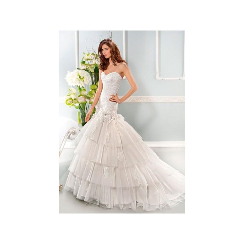 Boda - Vestido de novia de Cosmobella Modelo 7668 - 2014 Sirena Palabra de honor Vestido - Tienda nupcial con estilo del cordón