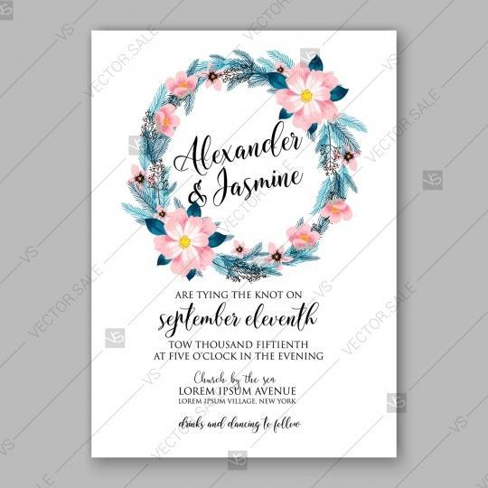 pink peony winter wedding invitation template 2807197 weddbook