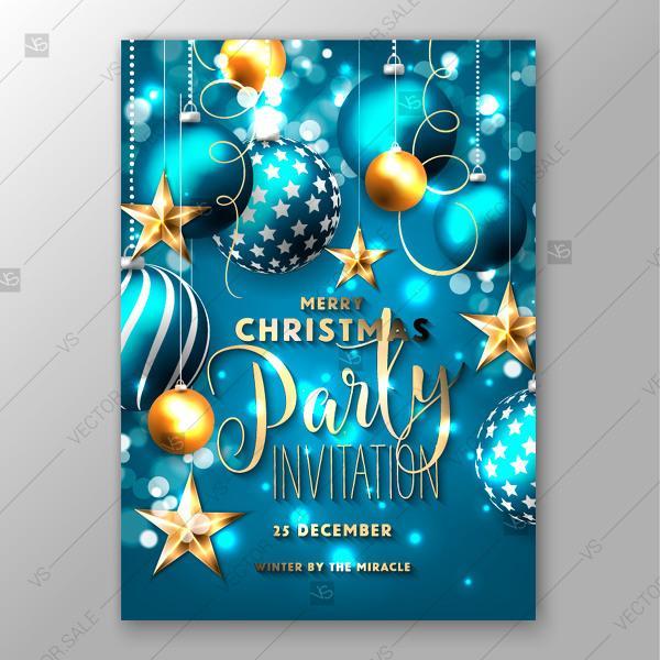 Wedding - Christmas invitation with balls