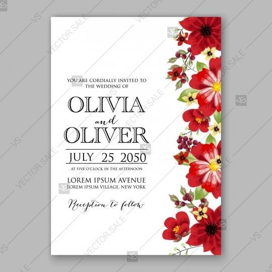 Mariage - Pink Peony wedding invitation template design