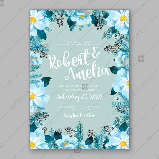 Mariage - Pink Peony wedding invitation template design