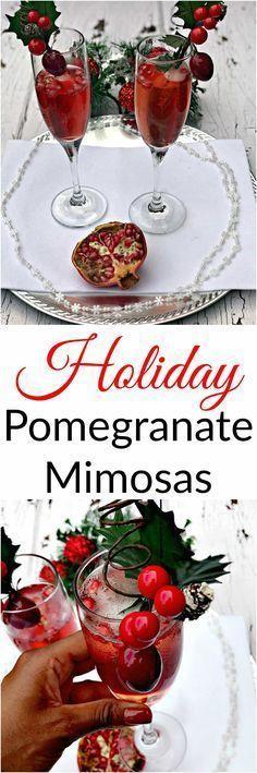 Wedding - Pomegranate Holiday Mimosas