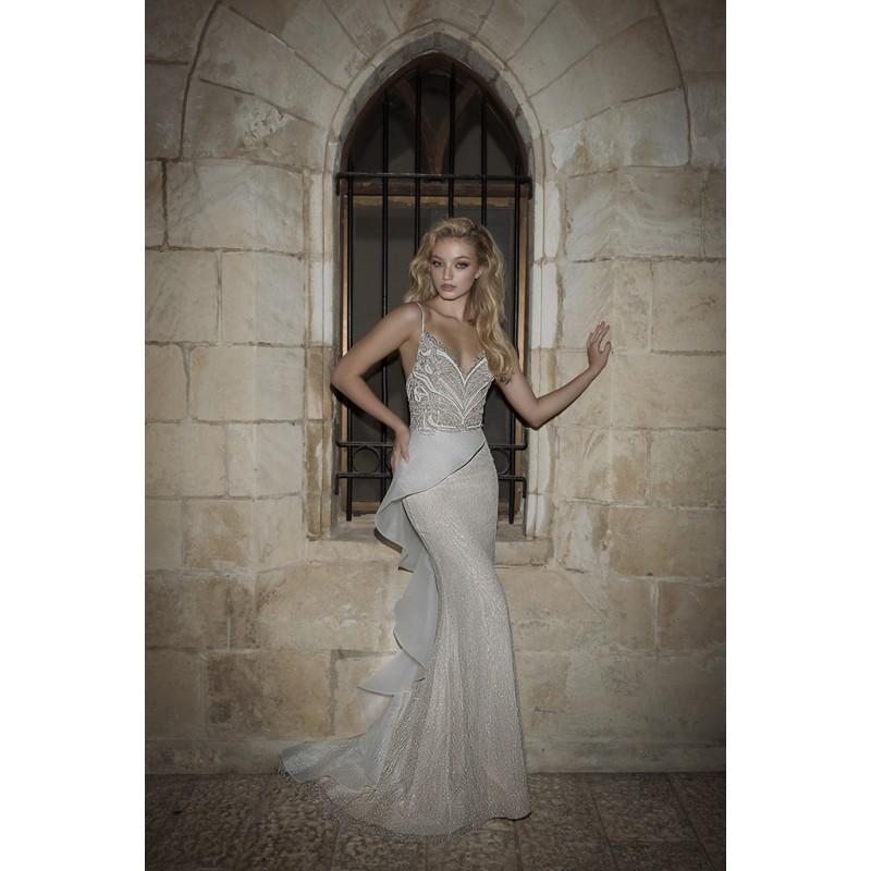 Wedding - Dany Mizrachi Spring/Summer 2018 DM21/18 S/S Sweet Tulle Beading Sweep Train Sheath Spaghetti Straps Sleeveless Bridal Gown - Wedding Dresses 2017,Cheap Bridal Gowns,Prom Dresses On Sale