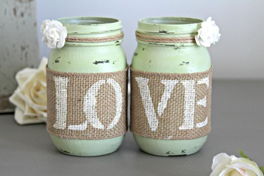 Mariage - Rustic Wedding Centerpieces-Rustic Engagement Decor-Wedding Table Decor-Bridal Shower-Rustic Home Decor-Engagement Gift-Engagement Party