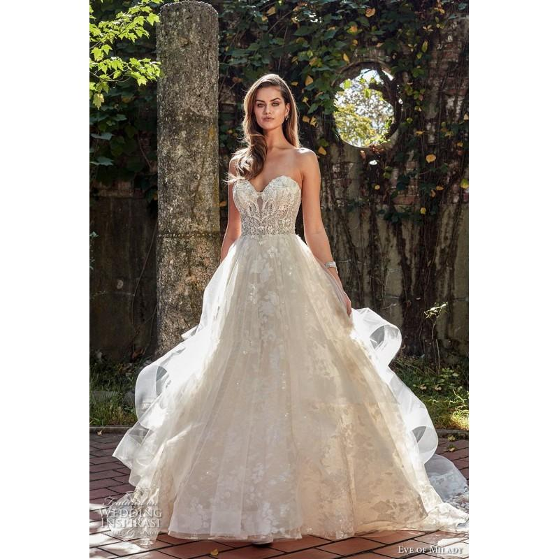 071936be33d Eve of Milady Spring Summer Lace Sweet Beading Chapel Train Ivory  Sweetheart Ball Gown Sleeveless Dress For Bride - 2017 Spring Trends Dresses