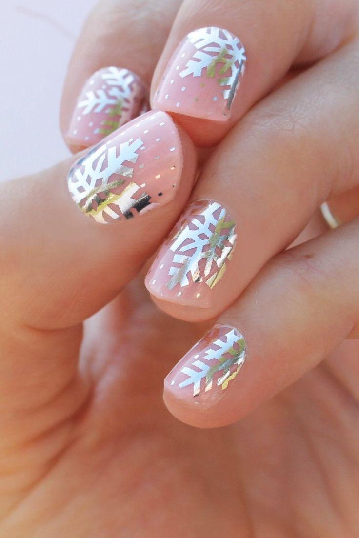 Свадьба - Silver Snowflake Nail Wraps