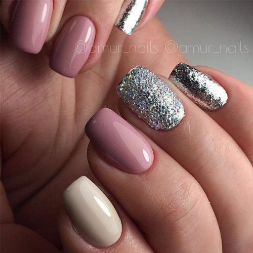 Wedding - 42 Perfect Winter Nails For The Holiday Season And More