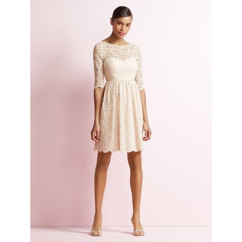 Jenny Yoo Jy510 Bridesmaid Dress Lace Elbow Sleeve Bateau Neck Marquis Bridesmaids Short 2018 New Wedding Dresses