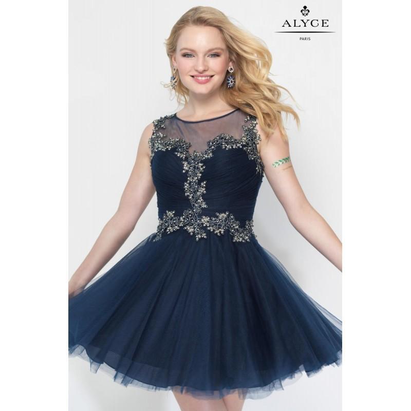 Свадьба - Navy/Gold Alyce Paris Homecoming 3692 - Brand Wedding Store Online