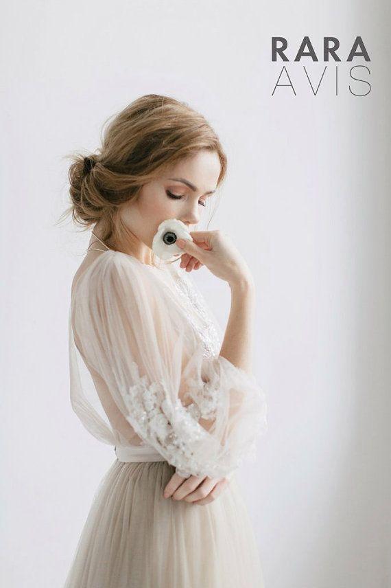 Mariage - Wedding Dress Linda, Long Sleevs, Beach Wedding Dress