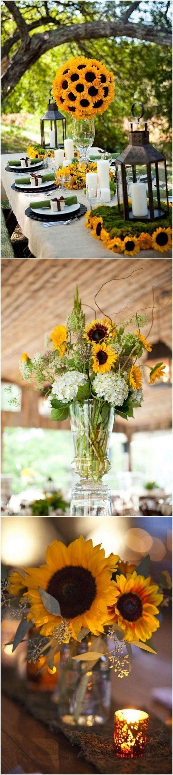 18 Cheerful Sunflower Wedding Centerpiece Ideas 2809562 Weddbook