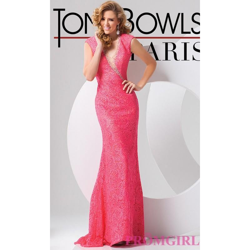 Свадьба - Long Open Back Lace Dress by Tony Bowls - Brand Prom Dresses
