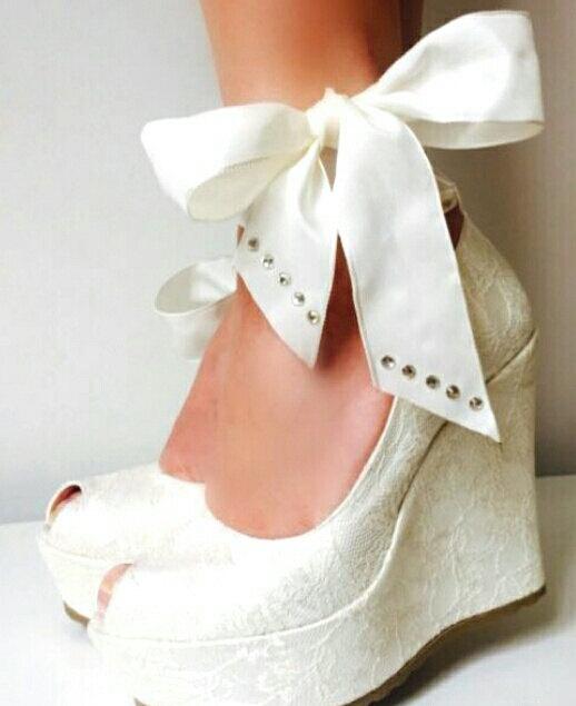 a07d5ff37bb8 Wedding , Wedding Shoes, Bridal Wedge Shoes,Bridal Shoes, Bridal Wedge  Shoes, Ivory Wedding Shoes, Ivory Lace Wedges, Wedding Wedges