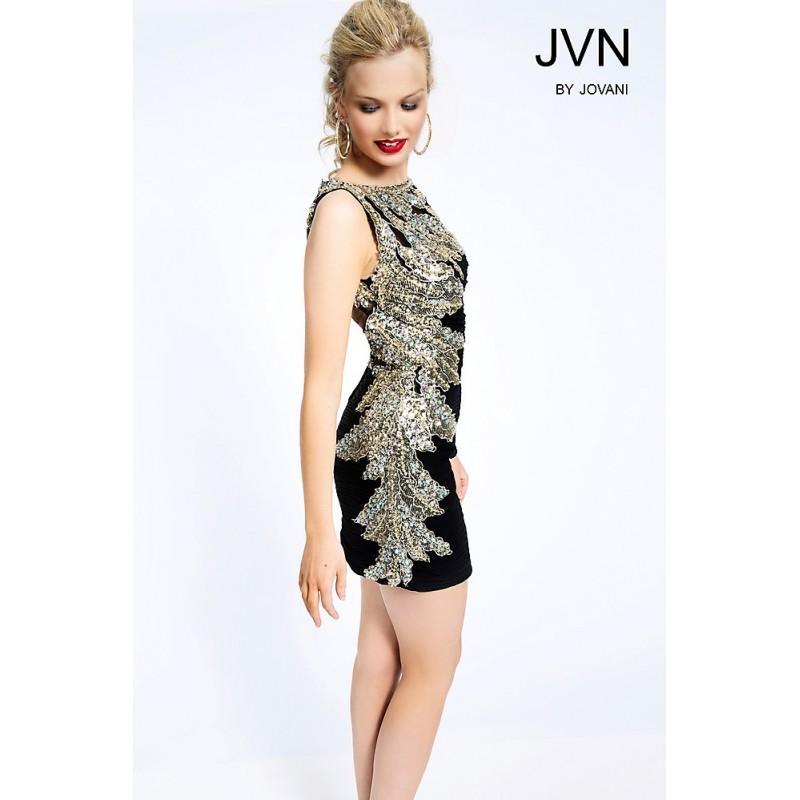 Mariage - Jovani Fitted Embellished Short Dress JVN98621 -  Designer Wedding Dresses