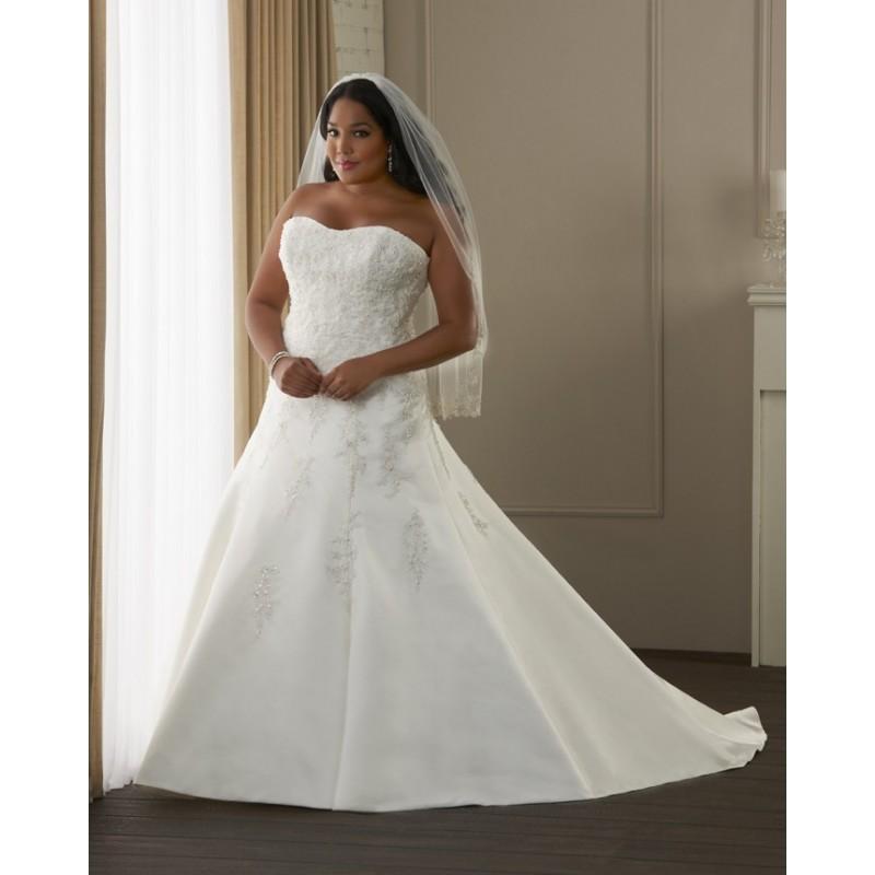Bonny Unforgettable 1406 Plus Size Wedding Dress Crazy Sale Bridal