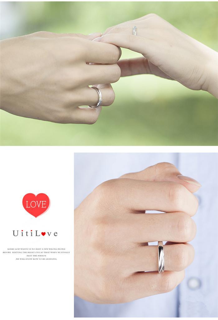 Hochzeit - ペアリング 刻印無料 シルバー925 指輪ペアリング 名入れ ネーム フリーサイズ