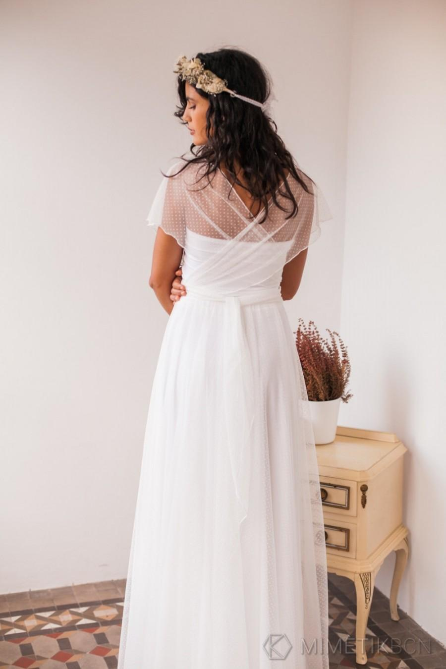 Dotted Swiss Tulle Wedding Dress, Dotted Swiss Tulle Wedding Dress ...