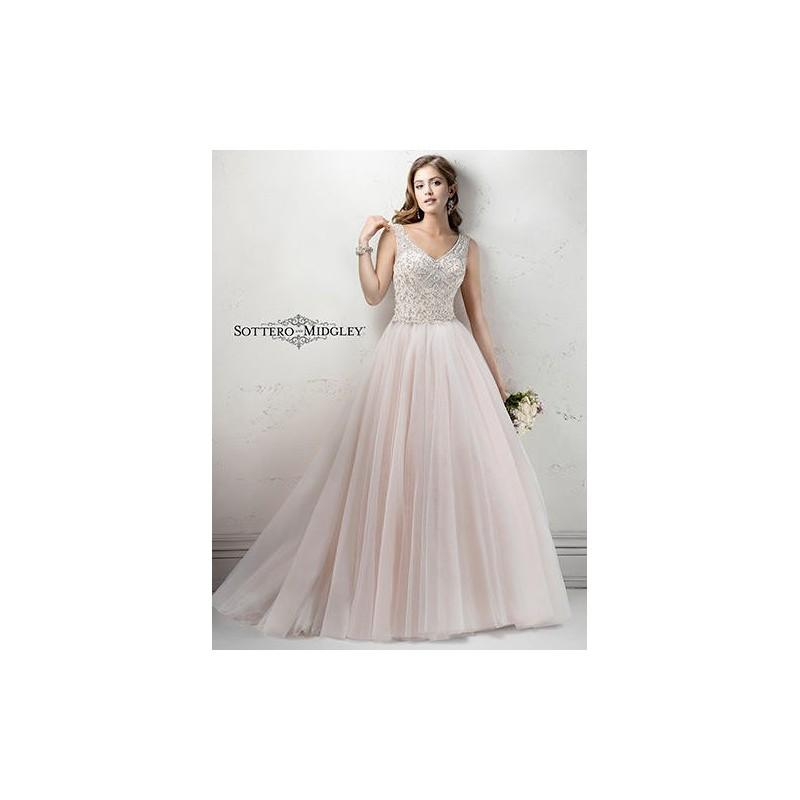 Wedding - White/Pewter Accent Sottero and Midgley by Maggie Sottero WhitneyMarie - Brand Wedding Store Online