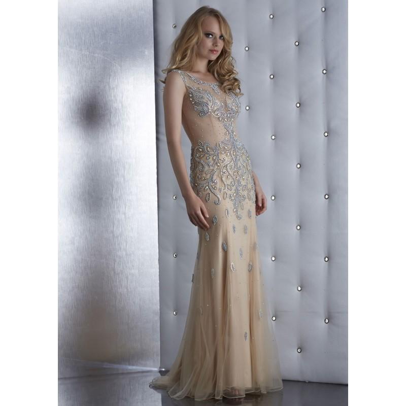 Wedding - Jasz Couture 5486 Iridescent Beaded Dress - 2018 Spring Trends Dresses