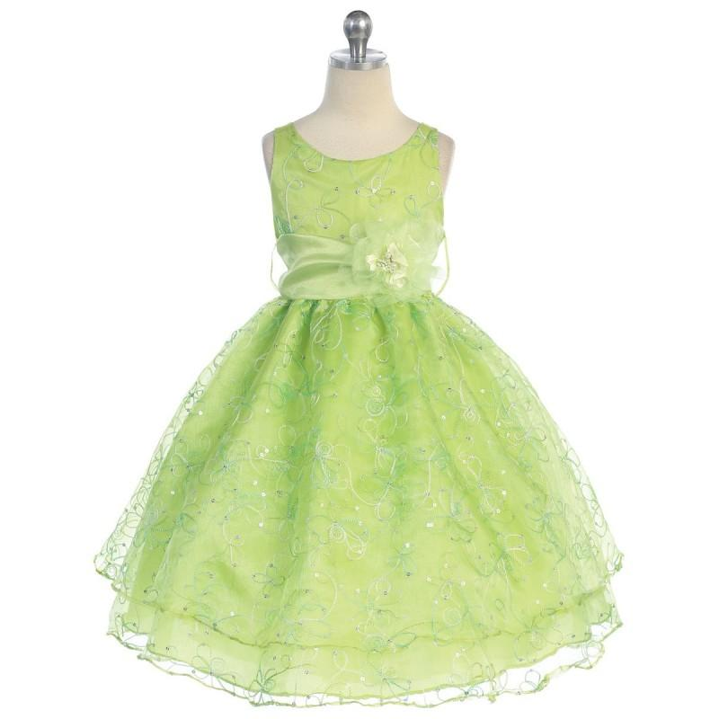 Свадьба - Lime Two Layer Embroidered Organza Dress Style: D736 - Charming Wedding Party Dresses