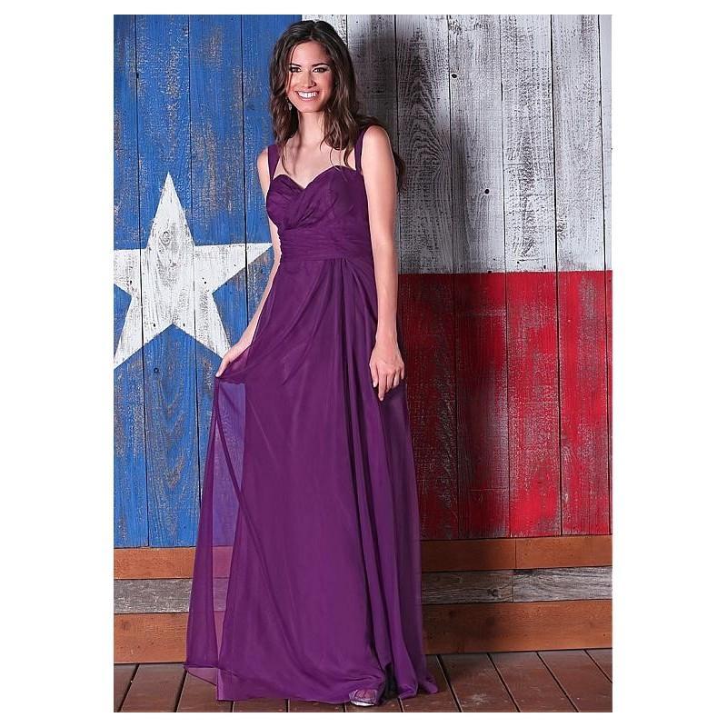 Свадьба - Chic Silk Like Chiffon Sweetheart Neckline Raised Waistline Full Length A-line Bridesmaid Dresses - overpinks.com