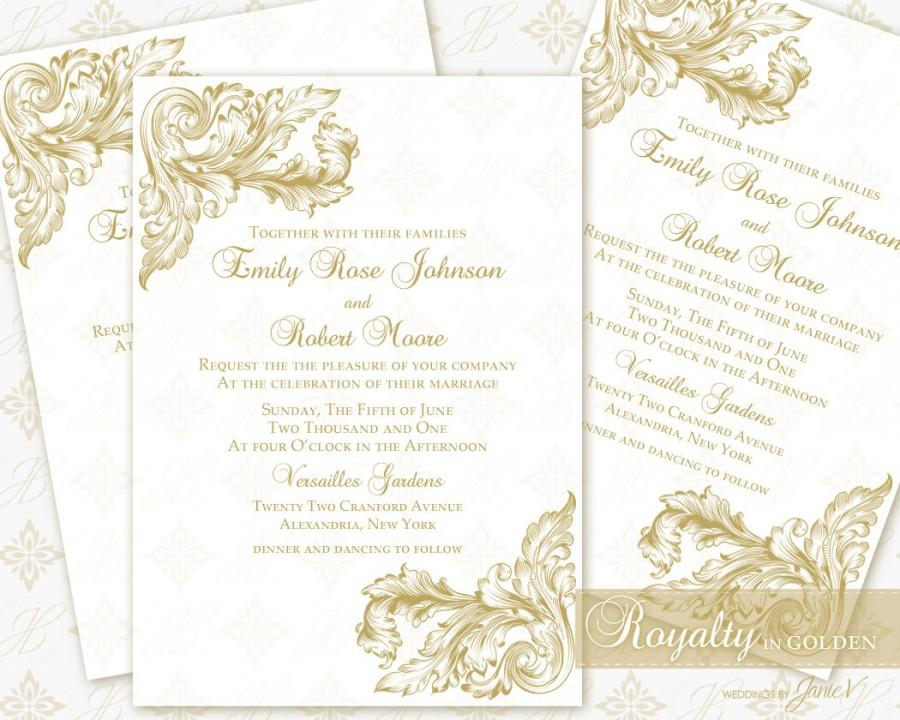 زفاف - Wedding Invitation Printable Template