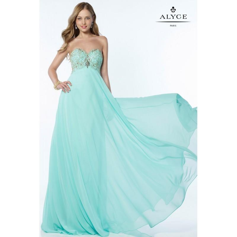 Mariage - Turquoise Alyce Prom 6683-17 Alyce Paris Prom - Rich Your Wedding Day