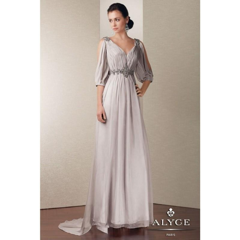 Wedding - Jean De Lys 29546 - Social and Evenings Alyce Jean De Lys Long A Line V Neck Dress - 2018 New Wedding Dresses