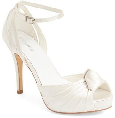 زفاف - Menbur 'Angelica' Satin Bridal Sandal (Women)