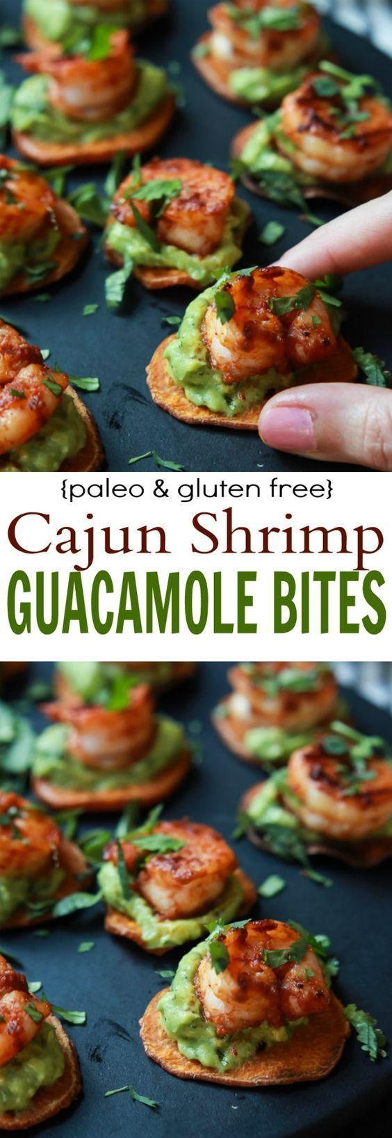 Düğün - Cajun Shrimp Guacamole Bites