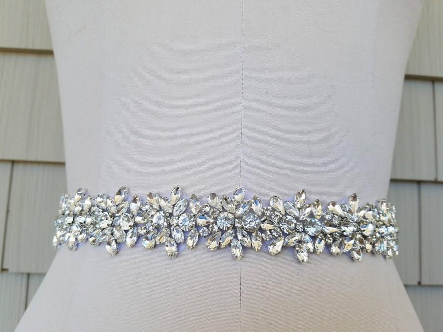 زفاف - Wedding Belt, Bridal Belt, Sash Belt, Crystal Rhinestones  - Style B20333