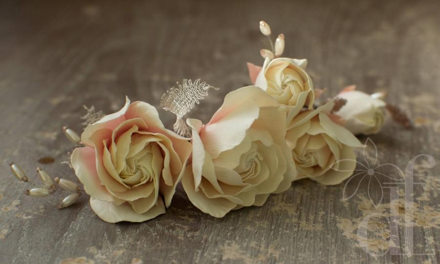 Свадьба - Rose hair pin