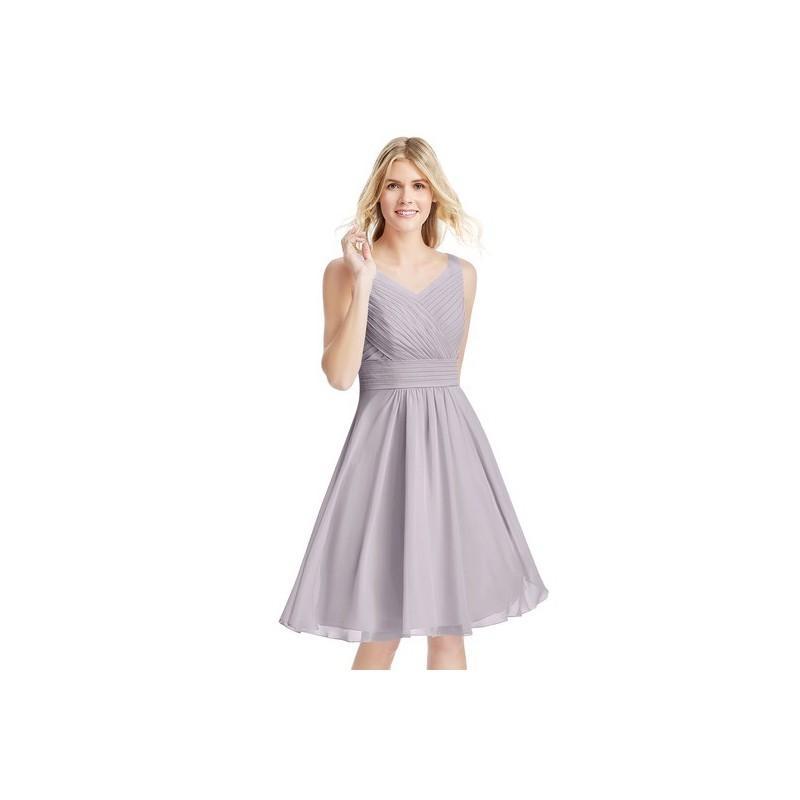 Wedding - Dusk Azazie Grace - V Back V Neck Knee Length Chiffon Dress - Simple Bridesmaid Dresses & Easy Wedding Dresses
