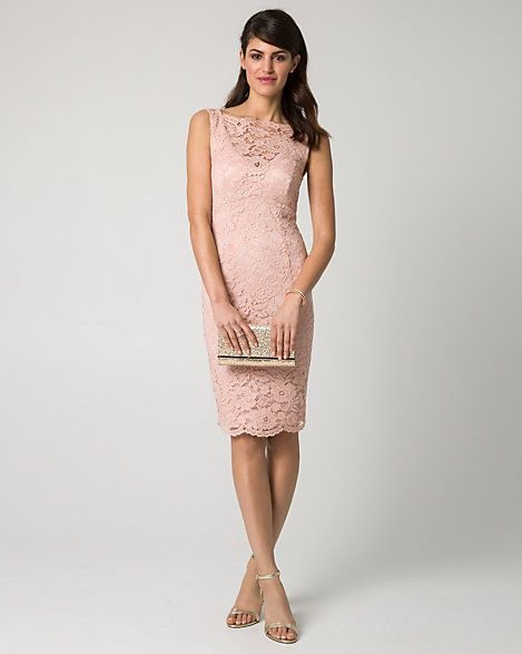 Wedding - Lace Illusion Cocktail Dress
