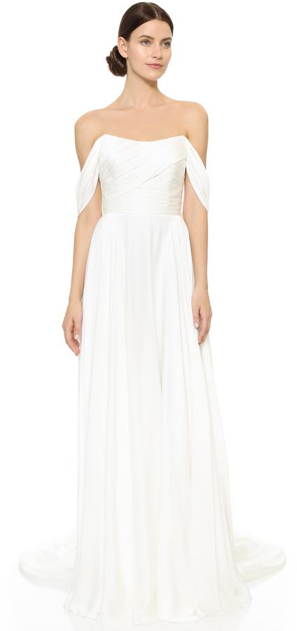 زفاف - Theia Delphine Off Shoulder Gown