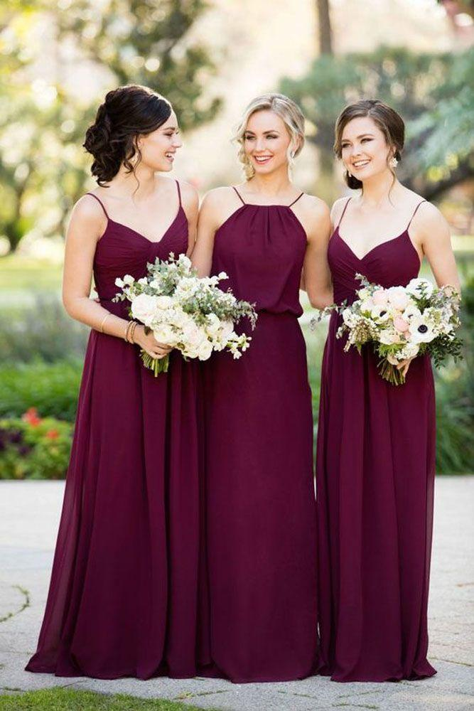 Wedding - Burgundy Bridesmaid Dresses