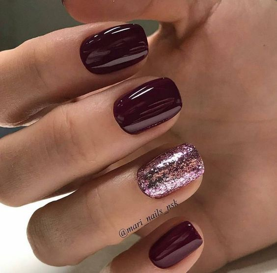 Свадьба - 65 Christmas Nail Colors Xmas Nails For New Years