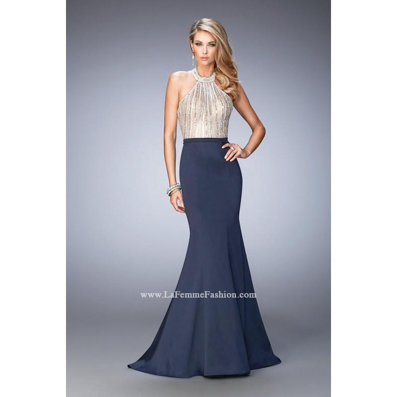 Свадьба - La Femme 22177 Crystal Halter Mermaid Dress - Brand Prom Dresses