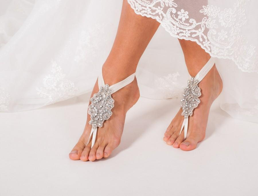Bridal Barefoot Sandals Crystal Foot Jewelry Rhinestone Barefoot