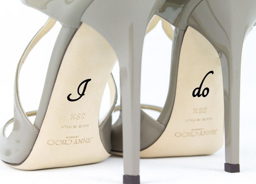 زفاف - Wedding Shoe Decal - I Do Shoe Decal - Bridal Shoe Accessories
