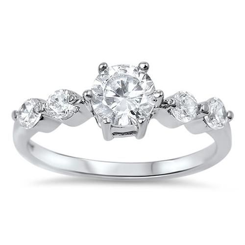 Wedding - A Perfect 1.6CT Round Cut Solitaire Russian Lab Diamond Engagement Wedding Anniversary Ring