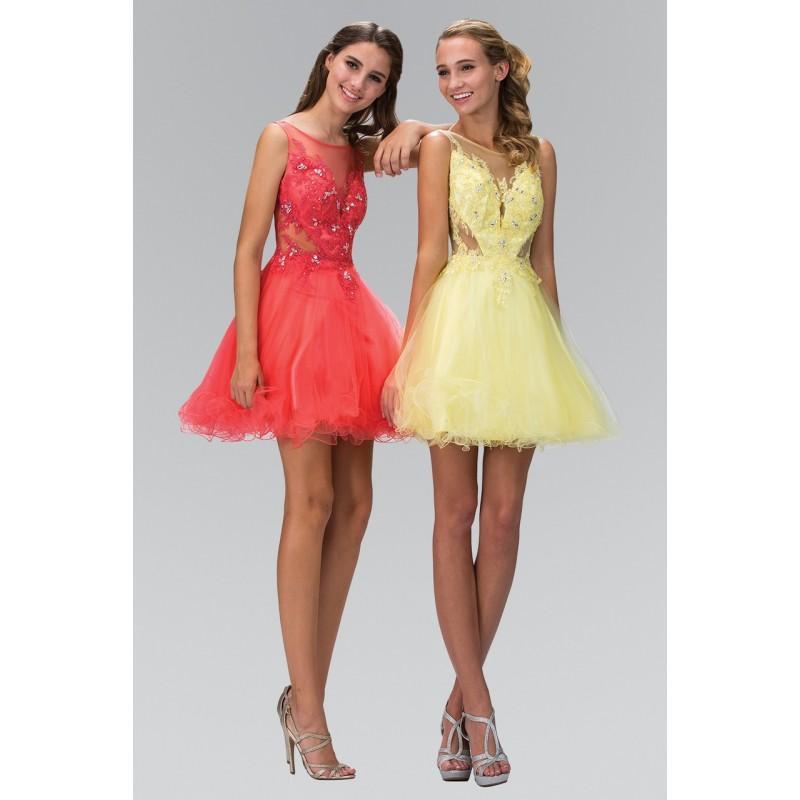 Mariage - Elizabeth K - Embellished Illusion Bateau Neck Tulle Dress GS2156 - Designer Party Dress & Formal Gown