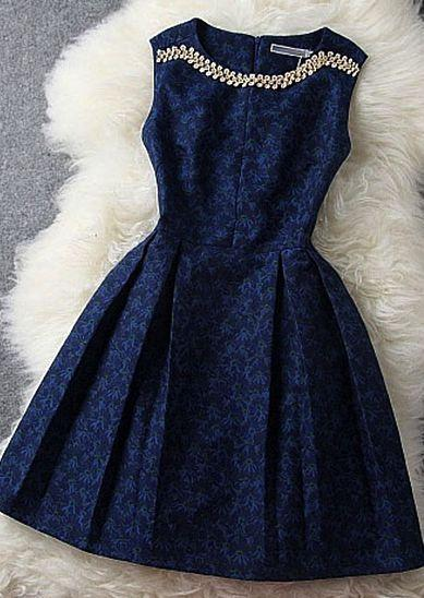 Wedding - Dark Blue Dress