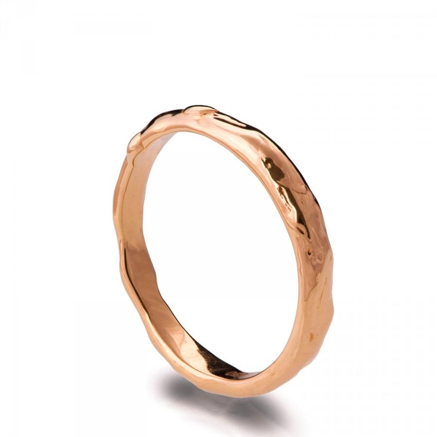 Wedding - Wrap No.2 - 18k Rose Gold Ring , Wedding Ring , Wedding Band, grooms ring, organic ring, rose gold band, unique wedding band