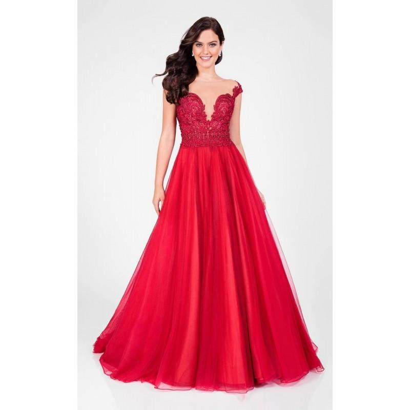 Wedding - Terani Couture - Lace Accented Illusion Bodice Tulle Ballgown 1711P2864 - Designer Party Dress & Formal Gown